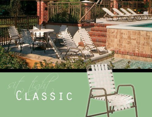 Crossweave Strap Pool Furniture Packages