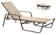 Model 42204SL Sling Chaise Lounge w/arms