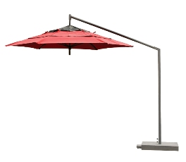 Model FL9CL 9' Hexagon Cantilever Style Umbrella - Acrylic Fabric w/Middle Vent