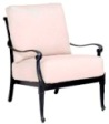 Model W4Q0406 Palazzo Cast Aluminum Deep Seating Chair