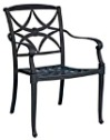 Model W4Q0417 Palazzo Cast Aluminum Dining Chair