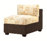 Model WCS511011 All Weather Wicker Armless Sectional
