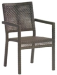 Model WCS601501 All Weather Wicker Dining Chair w/Arms
