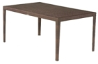 Model WCS601702 All Weather Wicker Rectangular Dining Table