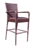 Model WCS593089 All Weather Wicker Padded Barstool w/Arms