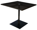 Model WCS593736 All Weather Wicker Bistro Umbrella Table